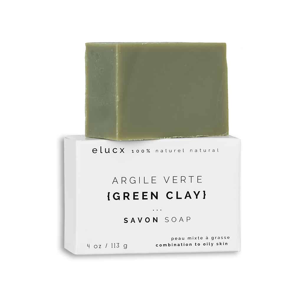 {GREEN CLAY} soap combination / oily skin