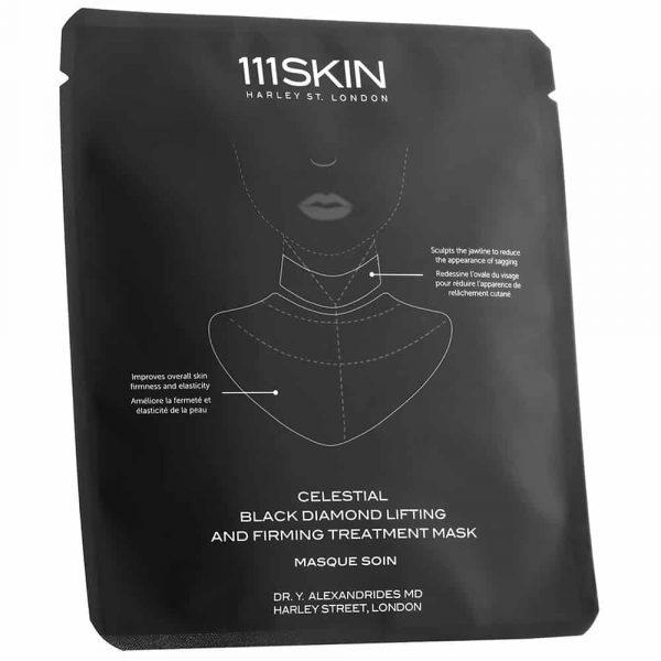 Masque pour le cou à base de diamants noirs , à usage unique