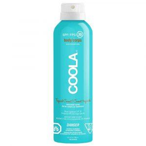 Coola – Écran solaire en atomiseur FPS 30 à la noix de coco tropicale