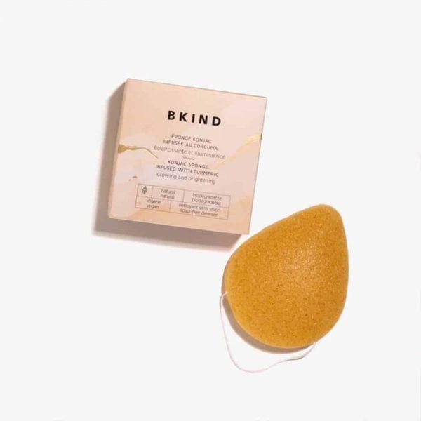 Bkind - L'éponge faciale konjac infusée au curcuma