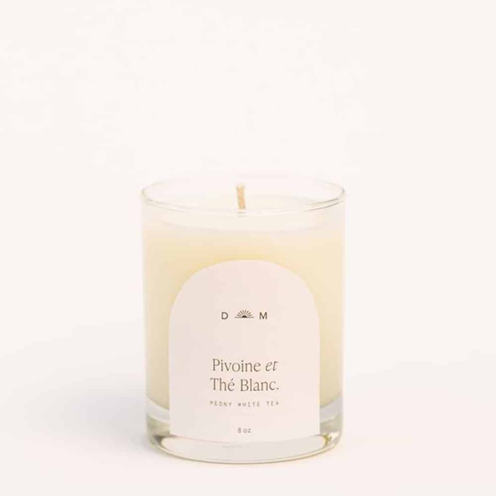 Peony and White Tea Candle