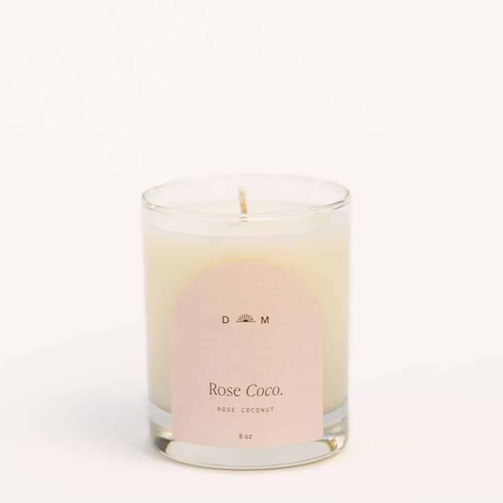 Candle Rose Coconut