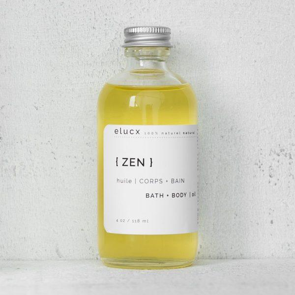 ELUCX - { ZEN } HUILE BAIN + CORPS